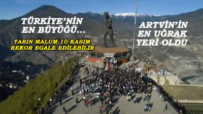 Atatürk Anıtı, Ziyaretçi Sayısıyla Artvin'de İlk Sırada
