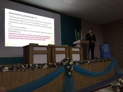 Prof. Dr. Hasan Türüt Sigaranın Zararlarını Öğrencilere Anlattı