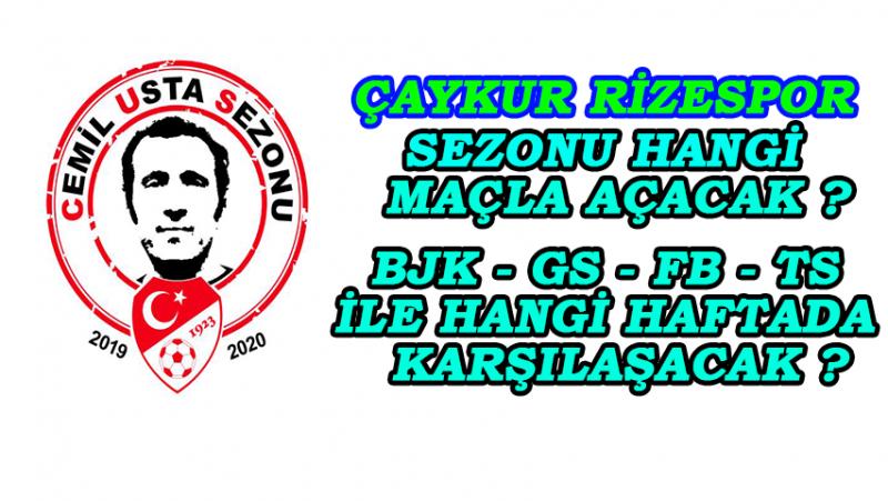 2019-2020 Süper Lig Cemil Usta Sezonu Fikstürü Çekildi