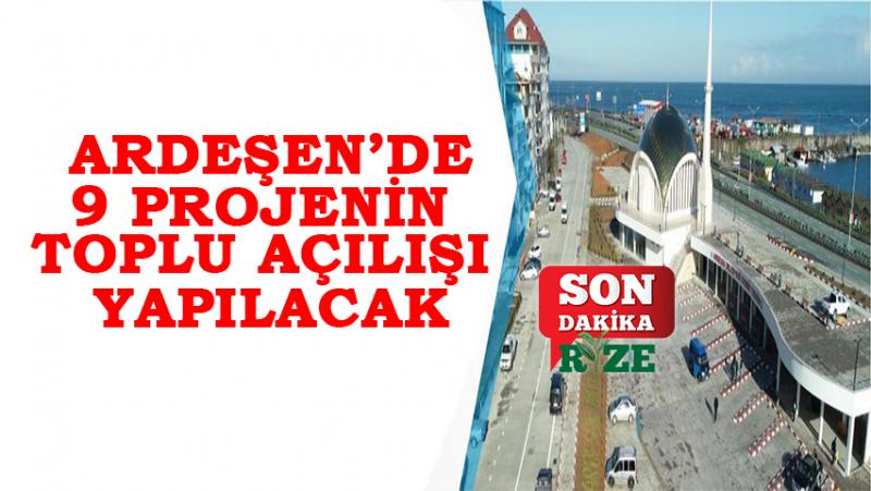 Ardeşen Belediyesi 9 Projenin Toplu Açılışını Gerçekleştirecek