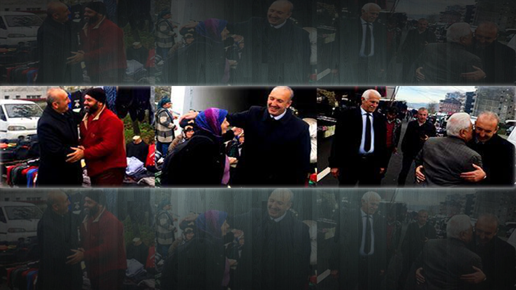Ardeşen, Bld. Bşk. Hakan Gültekin'i Bağrına Bastı