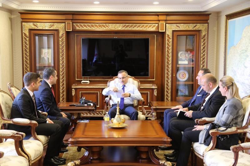Ardeşen Ticaret ve Sanayi Odası'ndan Vali Çeber'e Ziyaret