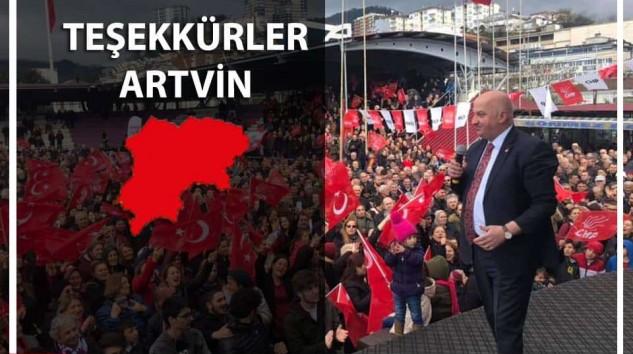 Artvin'de CHP'den AK Parti'ye Nakavt
