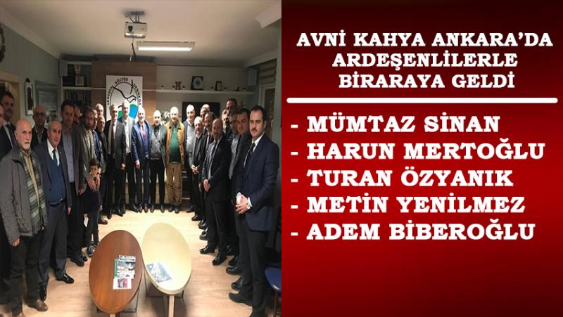 Avni Kahya Ankara Ardeşen Kültür ve Dayanışma Derneği'nde