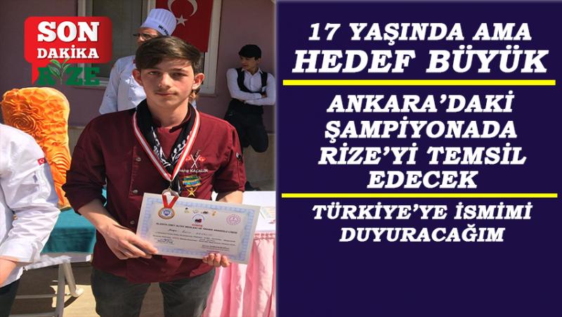 Barış Kaçalin Türkiye Şampiyonasında Rize'yi Temsil Edecek
