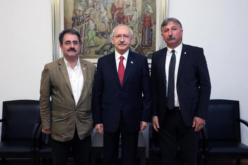 CHP Genel Bşk. Kemal Kılıçdaroğlu Rize İl Başkanını Kabul Etti