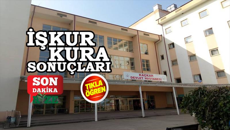 İşkur - Rize'de Hastanelerde Çalışacak 50 Kişi Belli Oldu