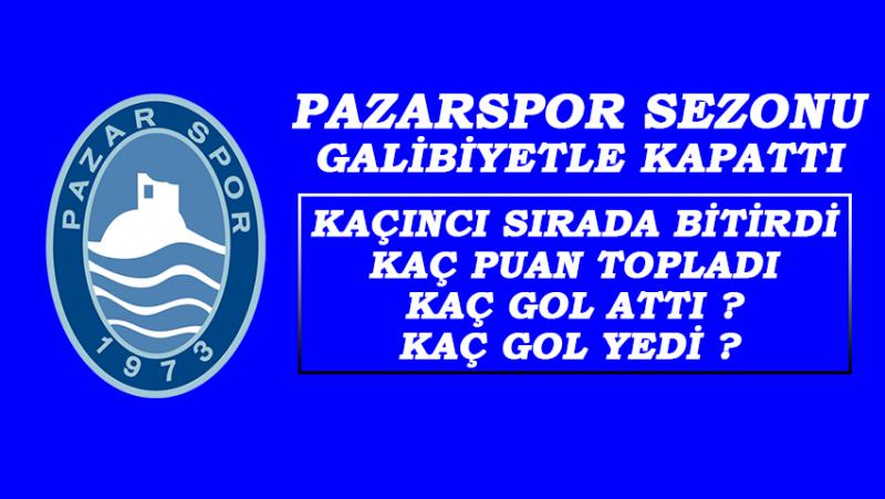 Pazarspor 2018-2019 Sezonunu Galibiyetle Kapattı