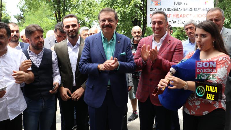 Hisarcıklıoğlu Ardeşen'de Tulum ve Atma Türkü İle Karşılandı