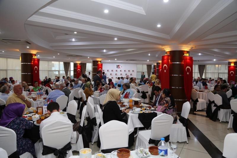 Rize Valiliği 15 Temmuz'da Şehit ve Gazi Ailelerini Unutmadı