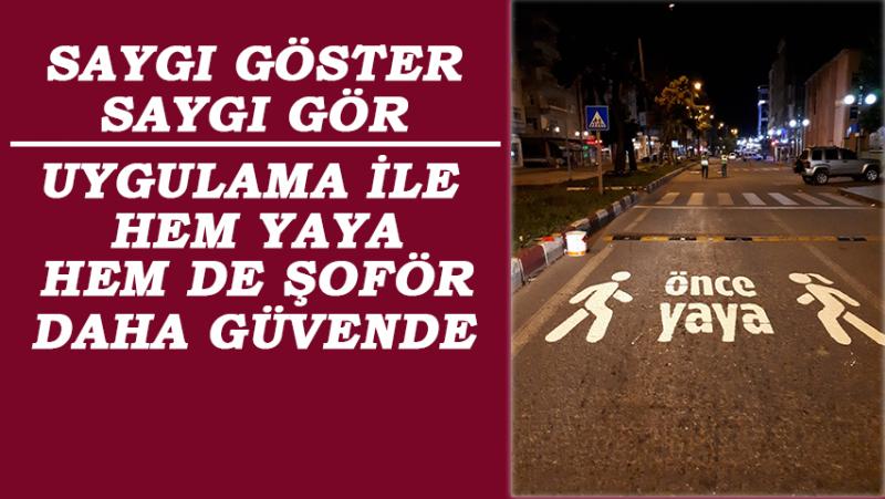 Rize'de Trafikte Yaya Önceliğine Görselle Dikkat Çekiliyor