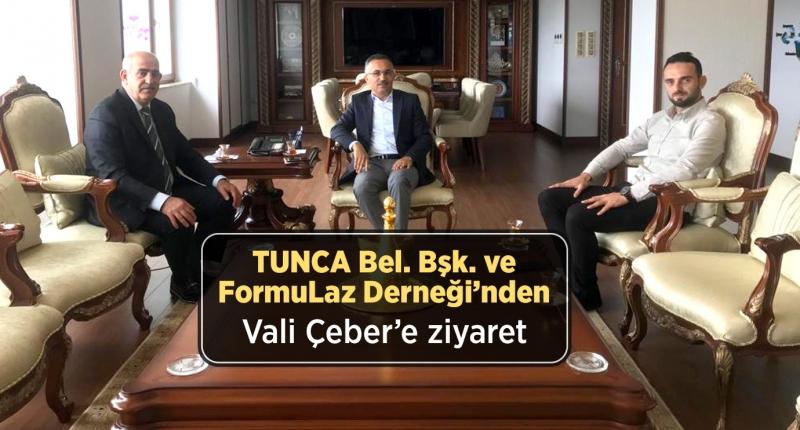 Tunca Bld. Bşk. ve FormuLaz Derneğinden Vali Çeber'e Ziyaret