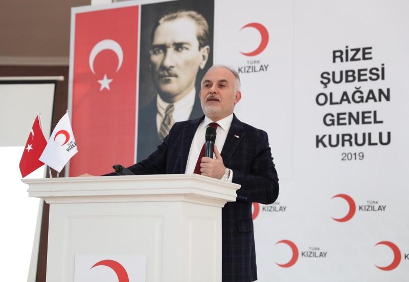 Türk Kızılayı Genel Başkanı Rize'de Konuştu