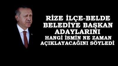 AK Parti Rize'de İlçe Bld. Bşk. Adaylarını Açıklıyor