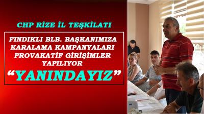 CHP Rize, Fındıklı Bld. Bşk. Cervatoğlu'na Sahip Çıktı
