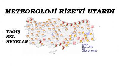 Meteoroloji'nden Rize'ye Sel ve Heyelan Uyarısı..!