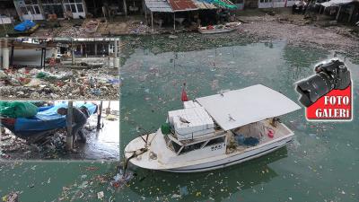 Rize'de Balıkçı Barınağı Çöplüğe Döndü