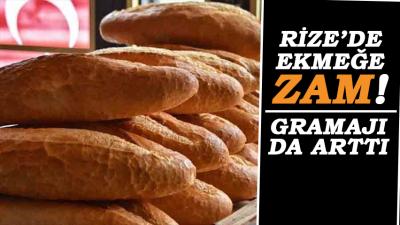 Rize'de Ekmeğin Gramajı ve Fiyatları Yükseldi... İşte Yeni Fiyatlar