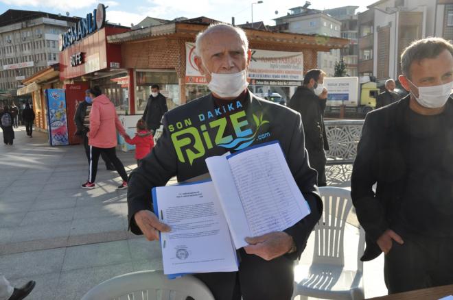 Ardeşen'de Dr. Ali Sarı İçin İmza Kampanyası