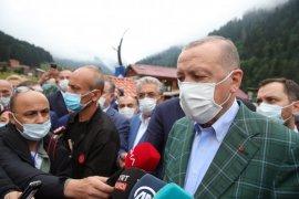 Cumhurbaşkanı Erdoğan Ayder Yaylası'nda