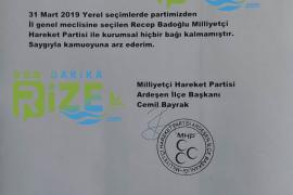 MHP'de Recep Badoğlu'nun Partisi İle İlişkisi Kesildi