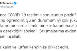 Ali Babacan Koronavirüse Yakalandı