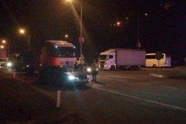 Rize-Trabzon Yolunu Kapatan Tanker...