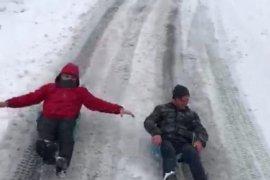 Artvin'de Kar'ın Gösterdiği İki Farklı Manzara