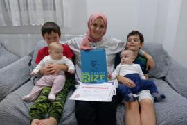 Rize'de 4 Çocuklu Anne'nin Okuma Azmi