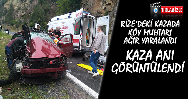 Rize'de Trafik Kazası: 1 Ağır Yaralı