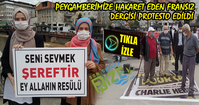 Charlıe Hebdo Dergisi Ardeşen'de Protesto Edildi