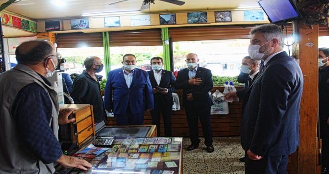 Altınöz ve Çolak'tan Çayeli'de Esnaf Ziyareti