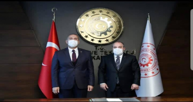 Dokap Bşk. Gültekin'den Sanayi Bakanı Varank'a Ziyaret
