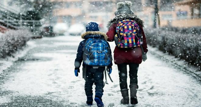 Rize'de Yüz Yüze Eğitime Kar Engeli