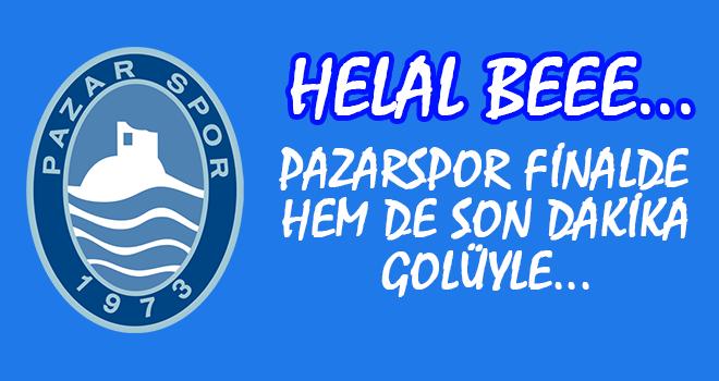 Pazarspor 2. lig Yolunda Finale Yükseldi