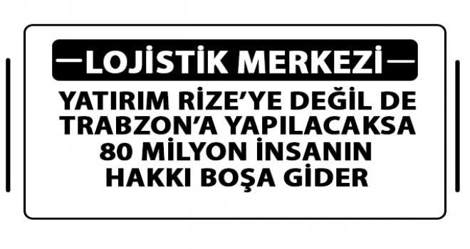 Rize'nin Önünü Kesmek İçin Trabzon'a Yapıyorlar