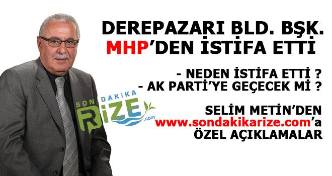 Derepazarı Belediye Başkanı MHP'den İstifa Etti
