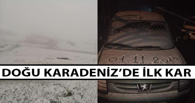 Karadeniz'de İlk Kar Görüldü