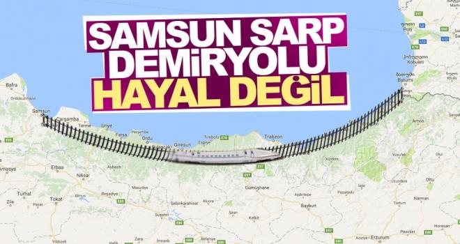 Samsun-Sarp Demiryolu'na Hisarcıklıoğlu'ndan Destek
