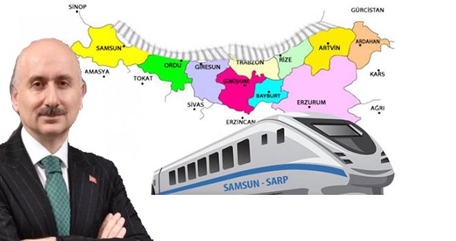 Samsun-Sarp Demiryolu Çalışmalarına Başladık