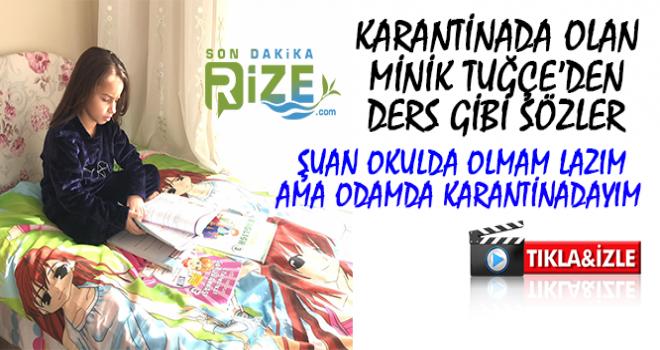Rize'de Minik Tuğçe'den Büyüklerine Covıd-19 Uyarısı