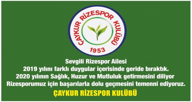 Çaykur Rizespor'dan Yeni Yıl Mesajı