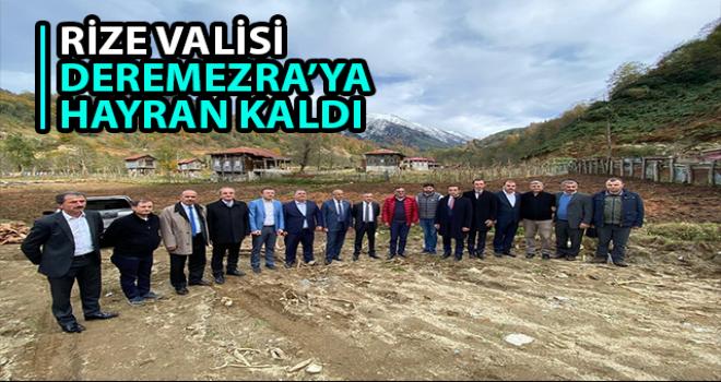 Rize Valisi Kemal Çeber Deremezra'da