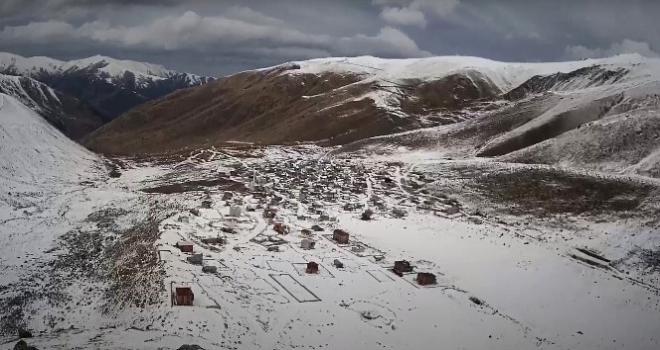 İkizdere'de Yangının Ardından Kar Yağdı