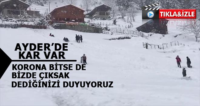 Ayder Yaylası'nda Kar Kalınlığı Yarım Metre