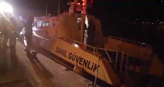 Rize'de Sahil Güvenliği Alarma Geçiren Olay