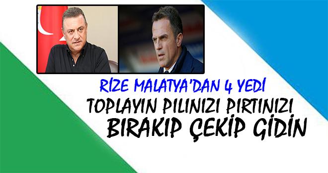 Rizespor'un Çöküş Filminde Son Perde: Malatya