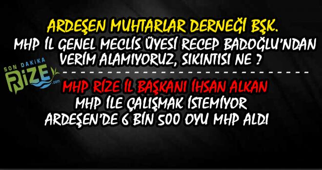 Ardeşen'de Muhtarlardan Recep Badoğlu Tepkisi