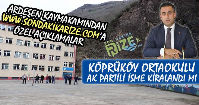 Köprüköy Ortaokulu Kapandı Mı? Kaymakam Konuştu