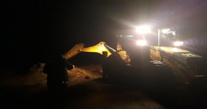 Rize'de Yağış Sonrası Araçta Mahsur Kalan 7 Kişi...